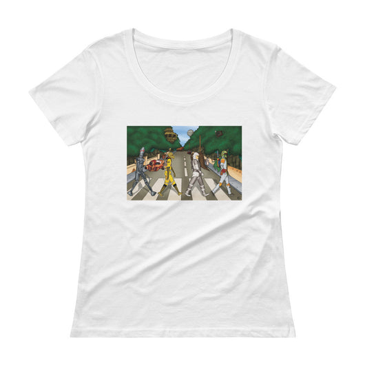 Bounty Road Street View Beatles Star Wars Mash Up Parody Ladies' Scoopneck T-Shirt + House Of HaHa Best Cool Funniest Funny T-Shirts