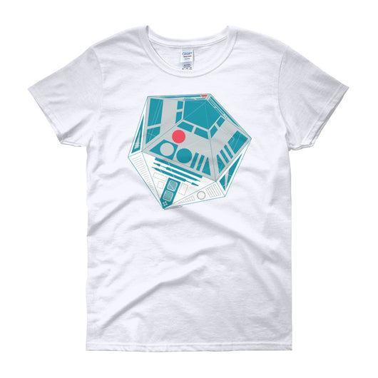 R2-D20 Star Wars Twenty Sided Gaming Die Women's Short Sleeve T-shirt + House Of HaHa