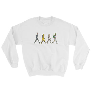 Bounty Road's Fab Four Beatles Star Wars Mash Up Parody Men's Sweatshirt + House Of HaHa Best Cool Funniest Funny Gifts