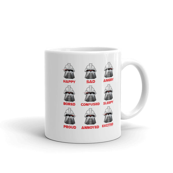 Moods Cylon Emotion Chart Mashup Parody Mug + House Of HaHa Best Cool Funniest Funny Gifts