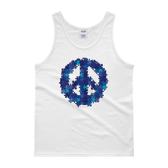 Puzzle Peace Sign Autism Spectrum Asperger Awareness Men's Tank Top + House Of HaHa Best Cool Funniest Funny Gifts