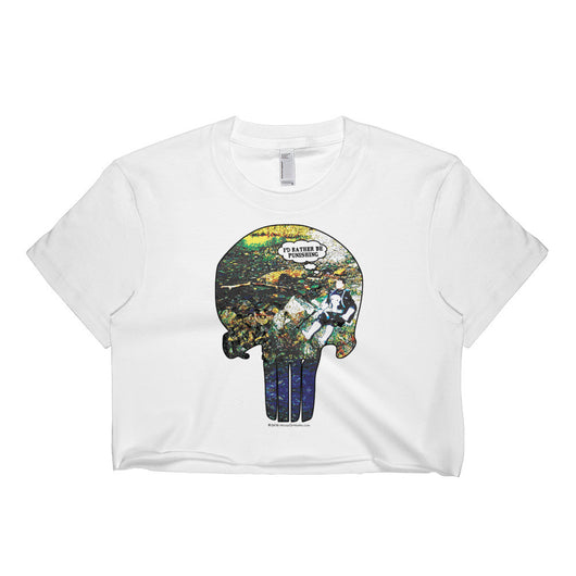 I'd Rather Be Punishing Short Sleeve Punisher Fishing Crop Top - Made in USA + House Of HaHa