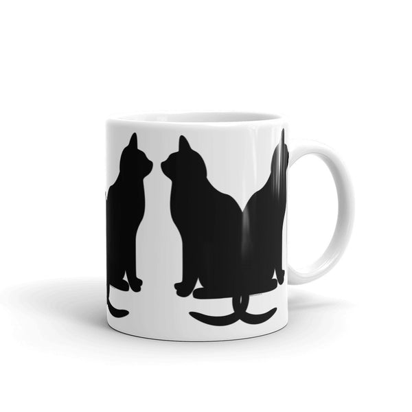 Black Cats Lucky Coffee Mug + House Of HaHa Best Cool Funniest Funny T-Shirts