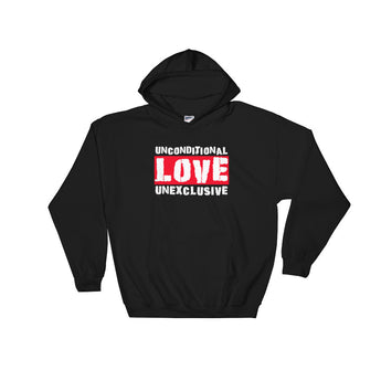 Unconditional Love Unexclusive Family Unity Peace Heavy Hooded Hoodie Sweatshirt + House Of HaHa Best Cool Funniest Funny Gifts