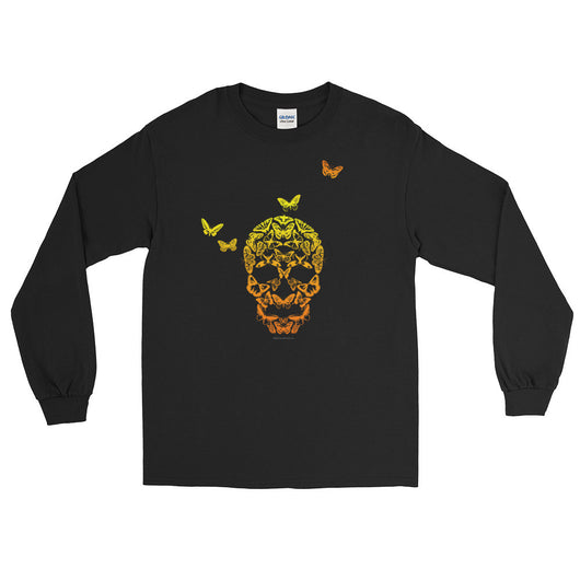 Butterfly Skull Men's Long Sleeve T-Shirt + House Of HaHa Best Cool Funniest Funny T-Shirts