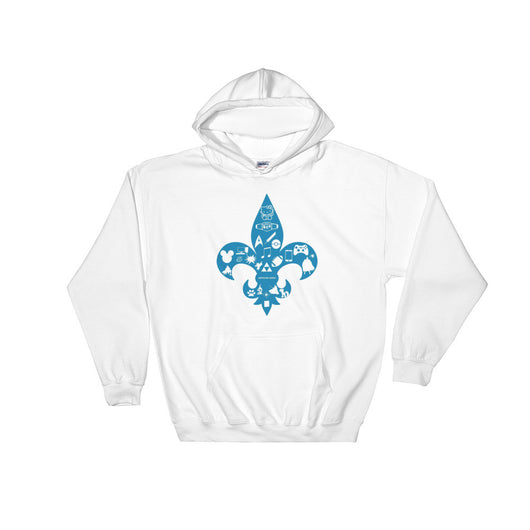 Awesome Geeks Geeky Passions Fleur de Lis Hooded Hoodie Sweatshirt + House Of HaHa Best Cool Funniest Funny T-Shirts