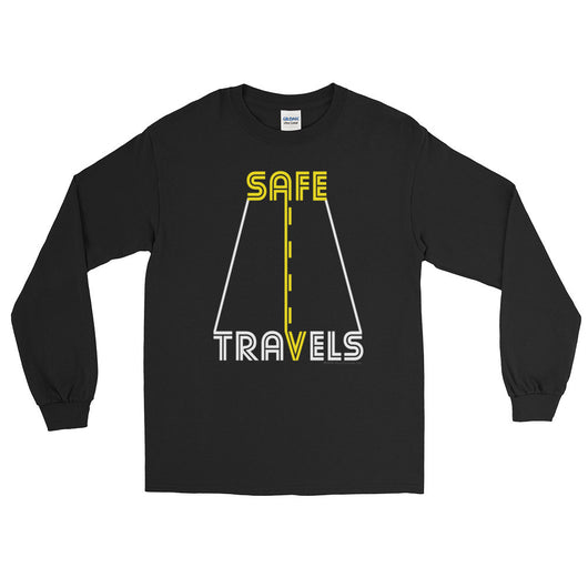 Safe Travels Vacation Road Trip Highway Driving Long Sleeve T-Shirt + House Of HaHa