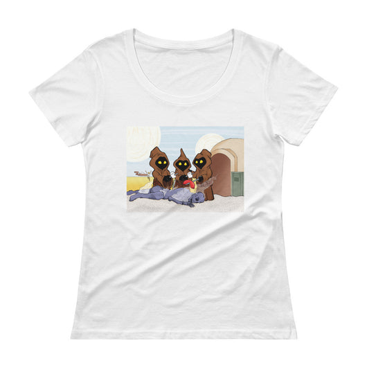 Weenie Roast Ladies' Scoopneck Women's T-Shirt + House Of HaHa