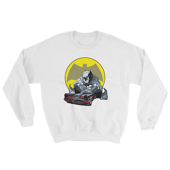 Lil' Batmobile Men's Sweatshirt + House Of HaHa Best Cool Funniest Funny Gifts