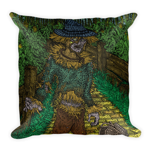 Walkers Of Oz: Zombie Wizard of Oz Cornfield Parody Square Pillow + House Of HaHa