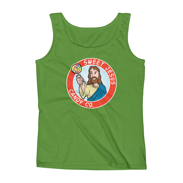 Sweet Jesus Candy Company Ladies' Tank Top + House Of HaHa Best Cool Funniest Funny Gifts
