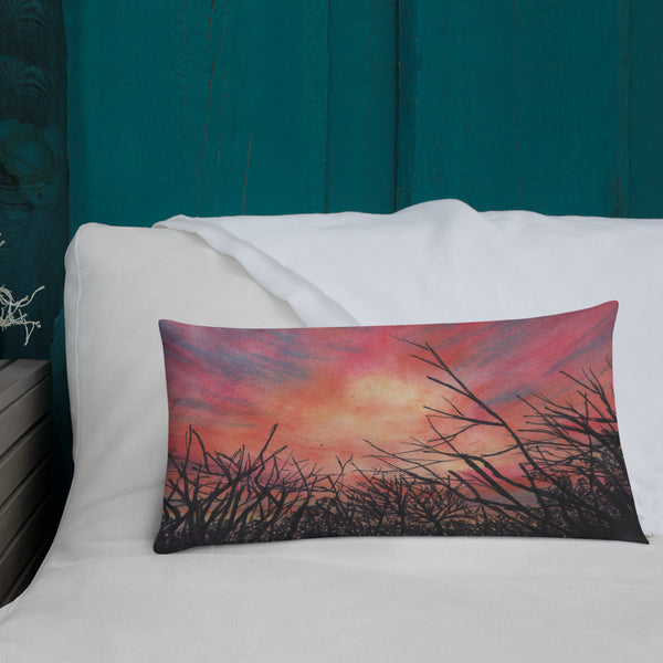 Hot Wells Dunes Sunset Premium Pillow + House Of HaHa Best Cool Funniest Funny Gifts