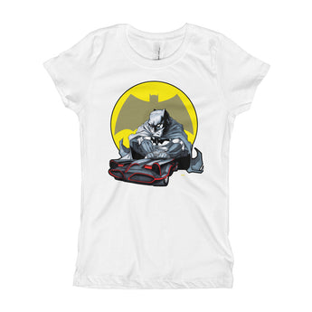 Lil' Batmobile Girl's Princess T-Shirt - House Of HaHa
