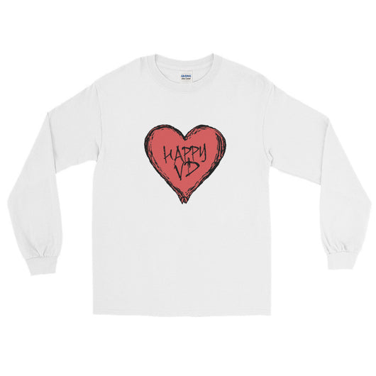 Happy VD Valentines Day Heart STD Holiday Humor  Men's Long Sleeve T-Shirt + House Of HaHa