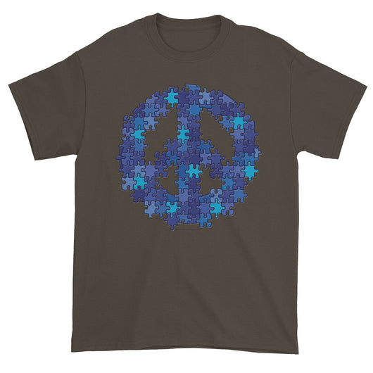 Puzzle Peace Sign Autism Spectrum Asperger Awareness Men's Short Sleeve T-shirt + House Of HaHa
