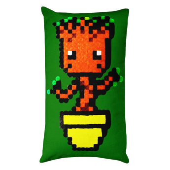 Baby Groot Perler Art Rectangular Pillow by Aubrey Silva + House Of HaHa Best Cool Funniest Funny Gifts