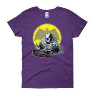 Lil' Batmobile Women's Short Sleeve T-Shirt + House Of HaHa Best Cool Funniest Funny T-Shirts