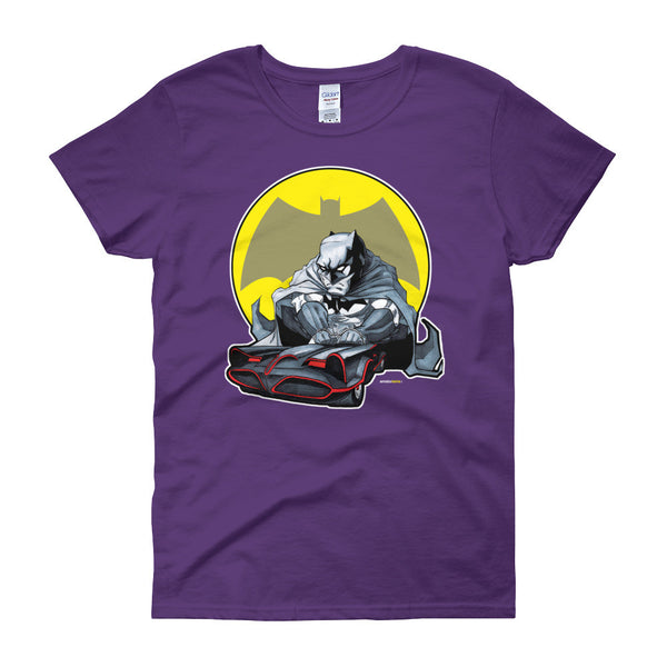 Lil' Batmobile Women's Short Sleeve T-Shirt - House Of HaHa