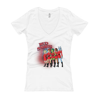Red Skirts Security Team Women's V-Neck T-Shirt - House Of HaHa