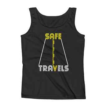Safe Travels Vacation Road Trip Highway Driving Ladies' Tank Top + House Of HaHa Best Cool Funniest Funny Gifts