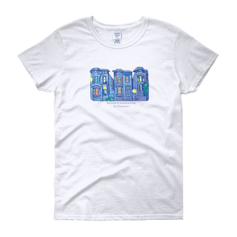 My Three Loves San Francisco Women's short sleeve t-shirt by Nathalie Fabri + House Of HaHa Best Cool Funniest Funny Gifts
