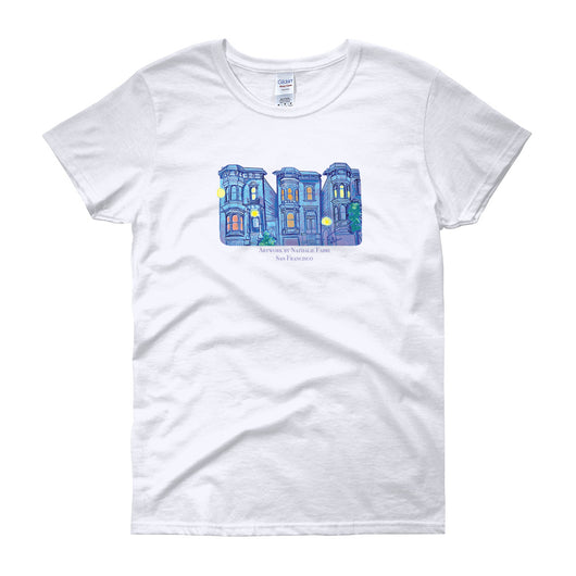 My Three Loves San Francisco Women's short sleeve t-shirt by Nathalie Fabri