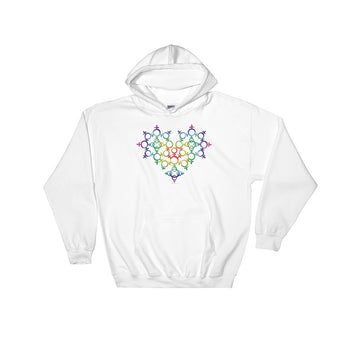 Rainbow Female Gender Venus Symbol Heart Love Unity Heavy Hooded Hoodie Sweatshirt + House Of HaHa Best Cool Funniest Funny Gifts