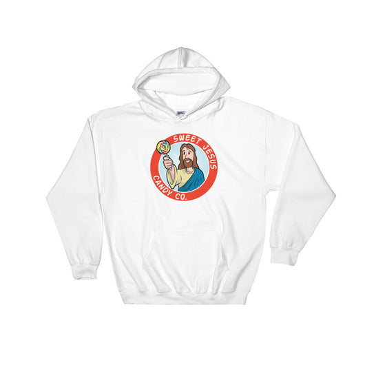 Sweet Jesus Candy Company Heavy Hooded Hoodie Sweatshirt + House Of HaHa Best Cool Funniest Funny T-Shirts