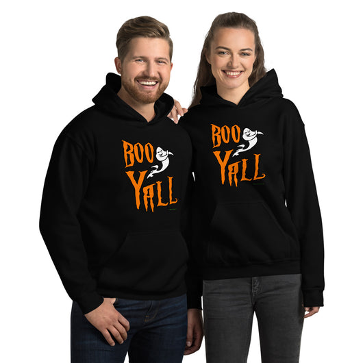 Boo Y'all Unisex Hoodie + House Of HaHa Best Cool Funniest Funny T-Shirts