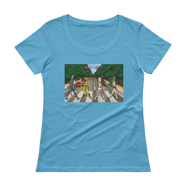 Bounty Road Street View Beatles Star Wars Mash Up Parody Ladies' Scoopneck T-Shirt + House Of HaHa Best Cool Funniest Funny Gifts