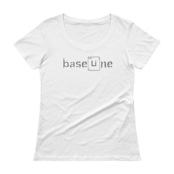 BaseLine Lithium Bipolar Awareness Ladies' Scoopneck T-Shirt + House Of HaHa Best Cool Funniest Funny Gifts