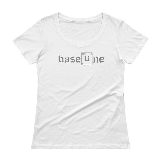 BaseLine Lithium Bipolar Awareness Ladies' Scoopneck T-Shirt + House Of HaHa Best Cool Funniest Funny T-Shirts