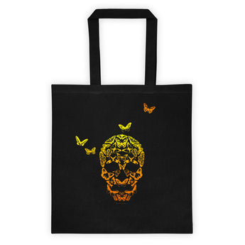 Butterfly Skull Double Sided Print Tote bag + House Of HaHa Best Cool Funniest Funny Gifts