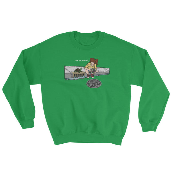 April in New York TMNT Are You a Ninja? Sewer Turtle Sweatshirt + House Of HaHa Best Cool Funniest Funny T-Shirts