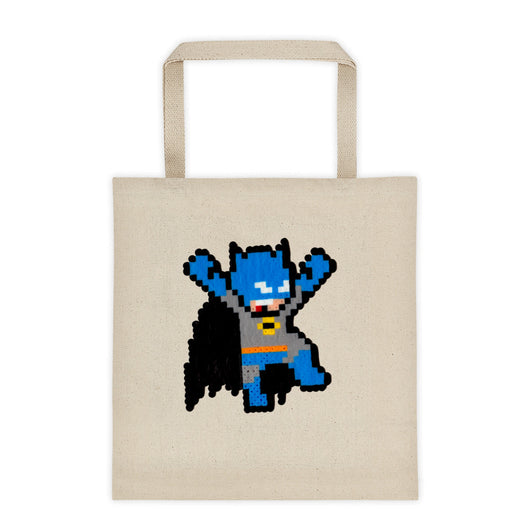 Batman Perler Art Tote Bag by Silva Linings