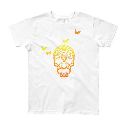 Butterfly Skull Youth Short Sleeve T-Shirt - Made in USA + House Of HaHa Best Cool Funniest Funny T-Shirts