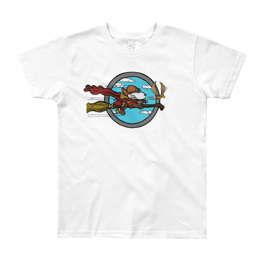 Wizard Flying Ace Youth Short Sleeve T-Shirt - Made in USA + House Of HaHa