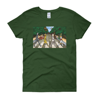 Bounty Road Street View Beatles Star Wars Mash Up Parody Women's Short Sleeve T-Shirt + House Of HaHa Best Cool Funniest Funny Gifts