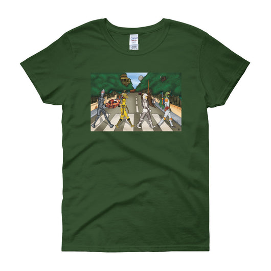 Bounty Road Street View Beatles Star Wars Mash Up Parody Women's Short Sleeve T-Shirt + House Of HaHa