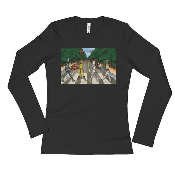 Bounty Road Street View Beatles Star Wars Mash Up Parody Ladies' Long Sleeve T-Shirt + House Of HaHa Best Cool Funniest Funny Gifts