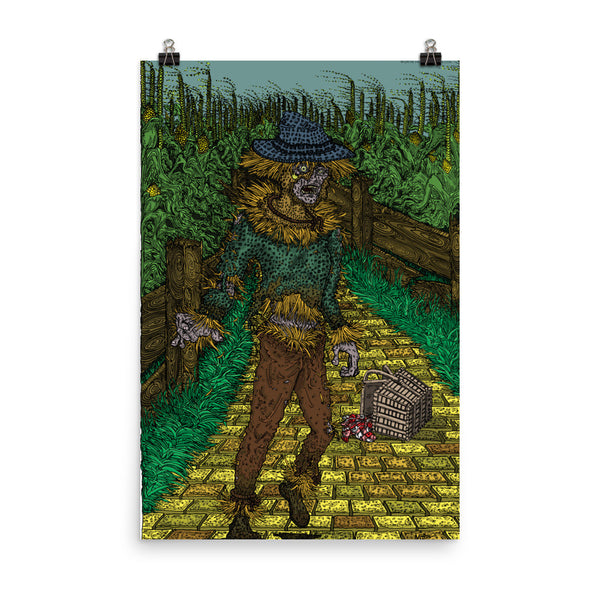 Walkers Of Oz: Zombie Wizard of Oz Cornfield Parody Photo Paper Poster + House Of HaHa Best Cool Funniest Funny Gifts