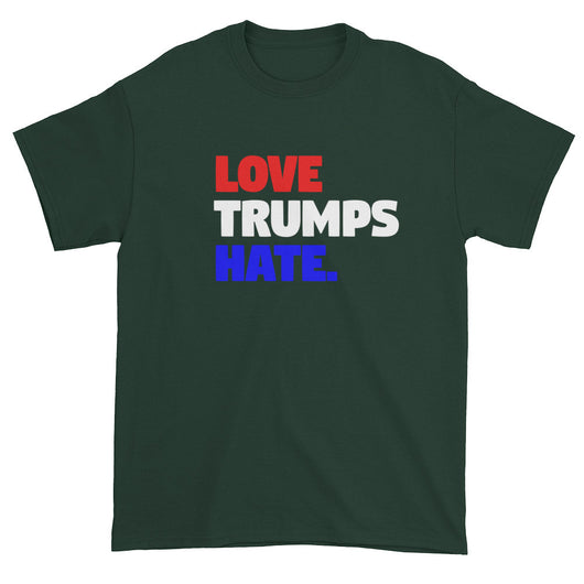 Love Trumps Hate Trump Loves Hate Men's Short Sleeve Double Sided T-Shirt