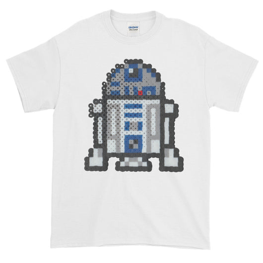 R2-D2 Perler Art Short-Sleeve T-Shirt by Aubrey Silva
