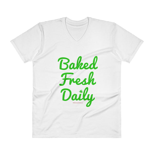 Baked Fresh Daily Men's V-Neck T-Shirt + House Of HaHa Best Cool Funniest Funny T-Shirts