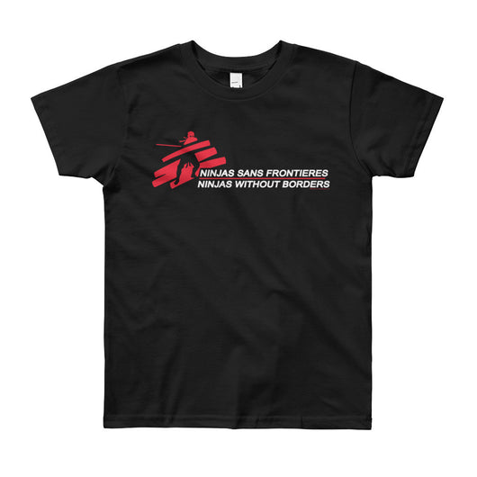 Ninjas without Borders Martial Arts Ninjutsu Fighter Youth Short Sleeve T-Shirt + House Of HaHa