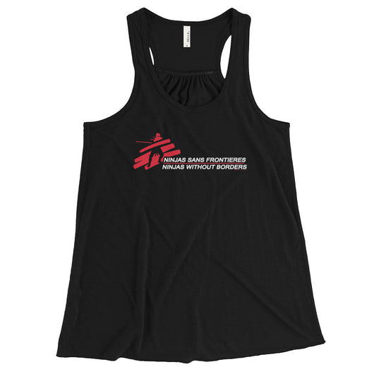 Ninjas without Borders Martial Arts Ninjutsu Fighter Women's Flowy Racerback Tank Top + House Of HaHa