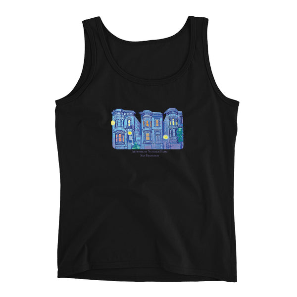 My Three Loves San Francisco Ladies' Tank Top by Nathalie Fabri + House Of HaHa Best Cool Funniest Funny T-Shirts