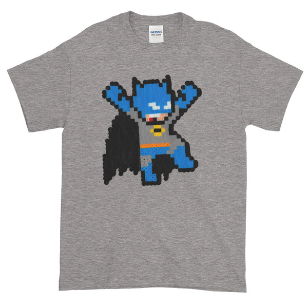 Batman Perler Art Men's Short-Sleeve T-Shirt by Silva Linings + House Of HaHa Best Cool Funniest Funny T-Shirts