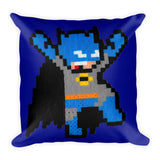 Batman Perler Art Square Pillow by Silva Linings + House Of HaHa Best Cool Funniest Funny Gifts
