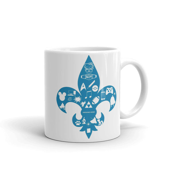Awesome Geeks Geeky Passions Fleur de Lis Mug + House Of HaHa Best Cool Funniest Funny Gifts